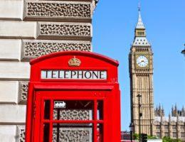 cabines téléphonique à Londres
