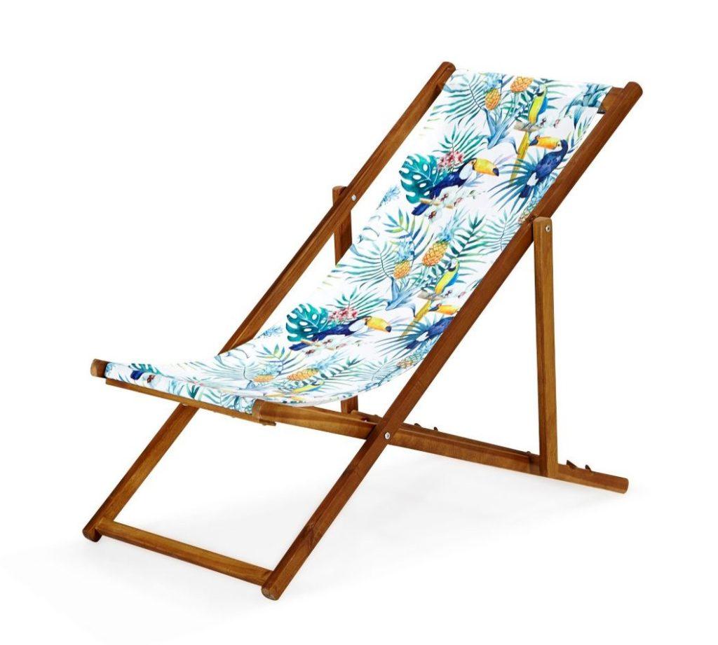 chaise longue en tissus
